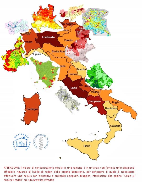 Cartina Molise Dettagliata.Mappe Radon Regioni Radon